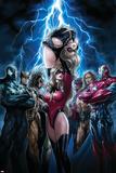Ms. Marvel No.44 Cover: Ms. Marvel, Spider-Man, Iron Patriot, Wolverine, Ares, Hawkeye and Sentry Plakater av Sana Takeda