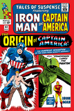 Tales Of Suspense No.63 Cover: Iron Man, The Phantom, Captain America, Rogers and Steve Kunstdrucke von Don Heck