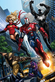Ms. Marvel No.44 Group: Iron Patriot, Wolverine, Hawkeye, Ms. Marvel and Spider-Man Posters by Sana Takeda