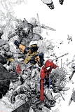 The Amazing Spider-Man No.555 Cover: Spider-Man and Wolverine Plakater av Chris Bachalo