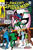 Amazing Spider-Man No.91 Cover: Spider-Man Fighting Poster by Gil Kane