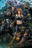 Ultimatum No.5 Cover: Grey, Jean, Beast, Wolverine, Cyclops, Colossus, Storm and Nightcrawler Poster av David Finch
