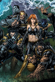 Ultimatum No.5 Cover: Grey, Jean, Beast, Wolverine, Cyclops, Colossus, Storm and Nightcrawler Stampa di David Finch