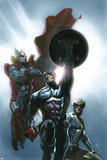 Secret Invasion No.8 Cover: Captain America, Wolverine and Thor Posters af Gabriele DellOtto