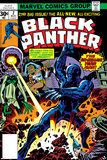 Black Panther No.2 Cover: Black Panther, Princess Zanda and Hatch-22 Charging Kunstdrucke von Jack Kirby