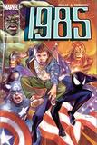 Marvel 1985 No.6 Cover: Spider-Man, Captain America, Iron Man and Hulk Julisteet tekijänä Tommy Lee Edwards