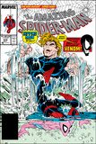 Amazing Spider-Man No.315 Cover: Spider-Man and Hydro-Man Poster by Todd McFarlane
