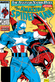 Amazing Spider-Man No.323 Cover: Captain America and Spider-Man Print by Todd McFarlane