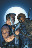 Marvel Team-Up No.8 Cover: Punisher and Blade Poster di jeff Johnson