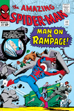 Amazing Spider-Man No.32 Cover: Spider-Man Crouching Photo by Steve Ditko