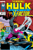 Incredible Hulk No.336 Cover: Iceman, Grey, Jean, Cyclops, Hulk and X-Factor Crouching Poster by Todd McFarlane