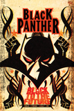 Black Panther Annual 1 Cover: Black Panther Kunstdruck von Juan Doe