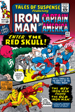Tales Of Suspense No.65 Cover: Iron Man, Captain America, Bucky and Red Skull Swinging Posters by Don Heck
