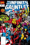 Infinity Gauntlet No.3 Cover: Adam Warlock Posters av George Perez