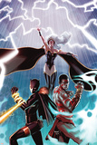 Black Panther No.10 Cover: Storm, Black Panther and TChalla Poster von Paul Renaud