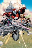 Siege No.1 Group: Iron Patriot, Hawkeye, Ms. Marvel, Wolverine, Spider-Man and Ares Posters av Olivier Coipel