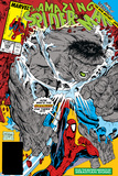 Amazing Spider-Man No.328 Cover: Hulk and Spider-Man Crouching Posters by Todd McFarlane