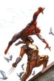 Secret Invasion No.7 Cover: Spider-Man and Wolverine Affiche par Gabriele DellOtto