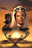 Storm No.1 Cover: Storm and Black Panther Poster von David Yardin