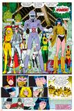 X-Men Annual No.10 Group: Warlock, Sunspot, Cannonball, Cypher, Magma, Magik and New Mutants Pôsters por Arthur Adams