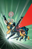 Astonishing X-Men No.1 Cover: Cyclops, Shadowcat, Beast, Wolverine, Emma Frost and X-Men Poster af John Cassaday