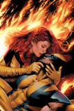 X-Men: Phoenix - End Song No.3 Cover: Phoenix and Wolverine Billeder af Greg Land