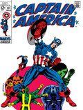 Marvel Comics Retro: Captain America Comic Book Cover No.111, with Hydra and Bucky Prints