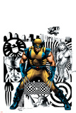 Wolverine No.27 Cover: Wolverine, Nick Fury and Elektra Posters av Greg Land
