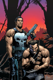 Wolverine Punisher No.2 Cover: Wolverine and Punisher Poster di Gary Frank