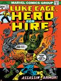 Marvel Comics Retro: Luke Cage, Hero for Hire Comic Book Cover No.6, Assassin in Armor! Poster