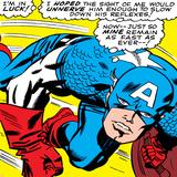 Marvel Comics Retro: Captain America Comic Panel, Monologue, I'm in Luck! Poster