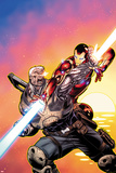 Avengers: X-Sanction No.2 Cover: Cable and Iron Man Fighting Photo by Ed McGuinness