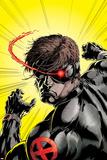 Uncanny X-Men No.391 Cover: Cyclops Planscher av Salvador Larroca
