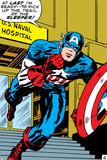 Marvel Comics Retro: Captain America Comic Panel, U.S. naval Hospital Poster