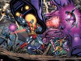 Exiles No.69 Group: Colossus, Nightcrawler, Wolverine, Storm, Cyclops, Sentinel and X-Men Posters av Paul Pelletier