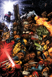 X-Men No.207 Cover: Wolverine and Cable Poster di David Finch