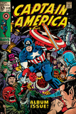 Marvel Comics Retro: Captain America Comic Book Cover No.112, Album Issue! (aged) Kunstdruck