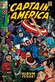 Marvel Comics Retro: Captain America Comic Book Cover No.112, Album Issue! (aged) Poster