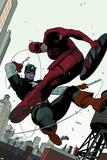 Daredevil No.2 Cover: Daredevil and Captain America Fighting Posters by Paolo Rivera