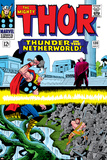 Marvel Comics Retro: The Mighty Thor Comic Book Cover No.130, Thunder in the Netherworld, Hercules Stampe
