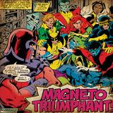 Marvel Comics Retro: X-Men Comic Panel (aged) Stampe