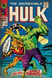 Marvel Comics Retro: The Incredible Hulk Comic Book Cover No.103, with the Space Parasite (aged) Stampe