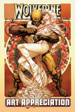 Wolverine Art Appreciation One-Shot Canvas Cover Cover: Wolverine and Emma Frost Plakater av Joe Quesada