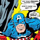 Marvel Comics Retro: Captain America Comic Panel, Villain Monologue, Say your Prayers Poster