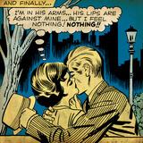 Marvel Comics Retro: Love Comic Panel, Kissing in the Park (aged) Kunstdrucke