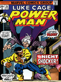 Marvel Comics Retro: Luke Cage, Hero for Hire Comic Book Cover No.26, the Night Shocker! Stampa
