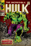 Marvel Comics Retro: The Incredible Hulk Comic Book Cover No.105 (aged) Kunstdrucke