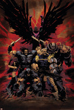 X-Force No.16 Cover: Wolverine, X-23, Cable, Warpath, Apocalypse and Archangel Posters af Kaare Andrews