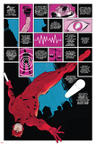 Daredevil No.1 Cover: Panels with Daredevel Jumping Prints by Paolo Rivera