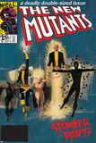 The New Mutants No.4 Cover: Sunspot, Cannonball, Magik, Magma, Wolfsbane and New Mutants Stampe di Bill Sienkiewicz
